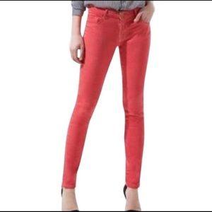 ZARA Basic Denim Coral Skinny Jeans